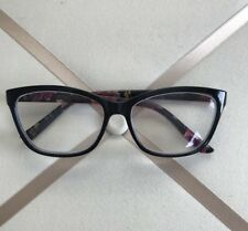 💖 NEW Betsey Johnson Reading Glasses +1.50 Black/Flower Readers.