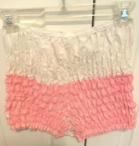Square Dance Pettipants pink and white  SAMS  Medium