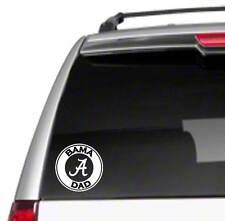 "Bama Dad 5.5"" Car Vinyl Sticker Decal University of Alabama crimson tide fan *B4"