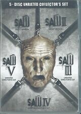 Saw 1-5, Uncut Collector's Set, Unrated (5 DVD Set, 2009) BRAND NEW SEALED