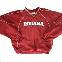 Indiana University Hoosiers Mens XL Red Windbreaker Double-Sided Embroidered