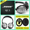 Replace Earpads Cushion Pads For Bose Quiet Comfort 3 QC3 On-Ear OE 1 Headphones