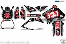 Decal Graphic Kit Suzuki DRZ400 DRZ 400 SM 400sm Decals Wrap Y Exhaust Red/Black