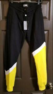 Champs Sports Gear CSG Mens S Sweat Pants Joggers Pockets Black Yellow NWT $42