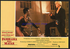JAMES BOND A VIEW TO A KILL ORIG SPANISH LOBBY GRACE JONES CHRISTOPHER WALKEN