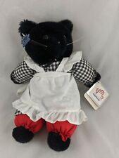 "Applause Marybelle Cat Plush 12"" Black 3919 1985 Stuffed Animal"