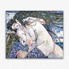 """original painting 50x60 cm 3RM art by samovar """"""""Kiss"""""""" oil  woman nude 2019"""