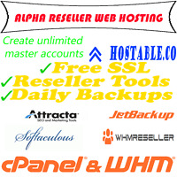 ALPHA RESELL HOSTING CPANEL/WHM Unlimited MASTER accounts! Instant after payment