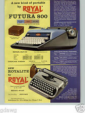 1960 PAPER AD Royal Futura Portable Typewriter Royalite Smith Corona