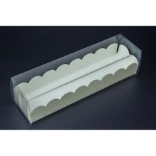 6 Hold Macaron box – White or Clear