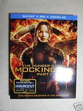 The Hunger Games: Mockingjay, Part 1 (Blu-ray/DVD, 2015, 2-Disc Set) W/Slipcover