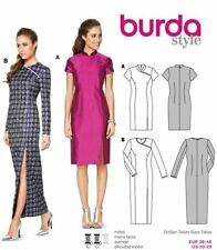 Burda Pattern 6830 Cheongsam Oriental Asian Chinese Mandarin Dress Size 10-20 UC