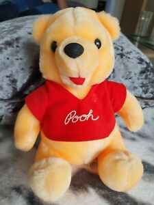 "VINTAGE Winnie The Pooh 8"" Soft Toy Plush By Disneyland Walt Disney World"