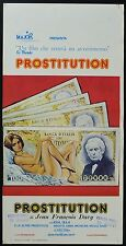 LOCANDINA, PROSTITUTION, JEAN FRANCOIS DAVY, MONDO MOVIE DOCUMENTARIO AFFICHE