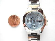 Timex Women's T2N973 Stainless Steel/Blue Stainless Steel Watch