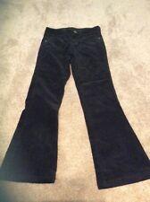 EUC Justice Girls Size 8R Black Corduroys