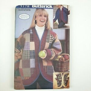 Butterick Pattern 5178 All Sizes Included Misses Oversized Jackets