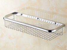 Bathroom Accessory Wall Mounted Chrome Soap /Sponge Shower Storage Basket Cba514