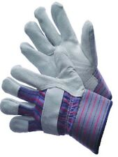 """12 PAIRS WORK GLOVES LEATHER PALM SHOULDER SPLIT 2 1/2"""" RUBBERIZED CUFF"""
