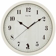 SEIKO Wall Clock Analog Mickey Mouse & Friends Disney Time Ivory FW577A
