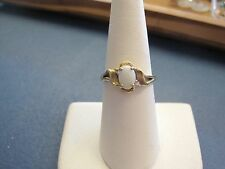 Lovely Vintage Opal Ring w/ Diamond in 10k Yellow GOLD size 6.5 by JBR ladies