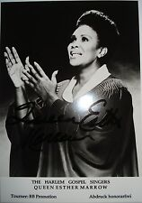 Queen Esther Marrow [the HARLEM GOSPEL SINGER] ___ ancien autographe