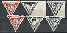Latvija 1933 MI 225-227 A+B  MLH  VF