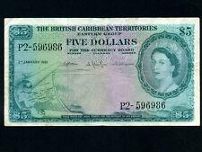 British Caribbean Territories:P-9c,5$,1961 * Queen Elizabeth * VF *