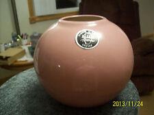 New listing Harris Pottery Mid Century Mauve Sphere Round Planter With Original Label