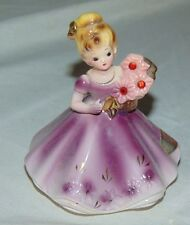 Vintage Josef Originals July Ruby Birthday Figurine With Original Sticker