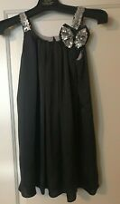 ISABELLA & CHLOE LITTLE GIRLS PARTY DRESS GRAPHITE AND SILVER SEQUINED SIZE 7