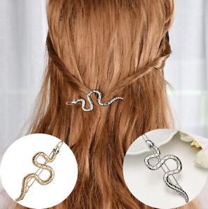 11Pcs Women Punk Snake Hair Clip Gold Hairpin Slide Grips Barrette Hair Hairpins