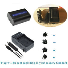 Battery+Charger for SONY NP-FH40 NP-FH50 DSLR-A230 A290 A330 A380 A390 DSC-HX100