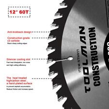 "Circular Saw Blade 12"" x1"" 1 pc 60T Carbide Miter Cutting for DeWalt & Makita"