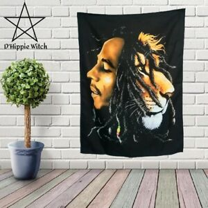 Amazing BOB MARLEY LION Quality hippie Tapestry Wall Hanging Hippie  Decoration