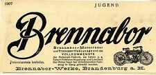 Brennabor- Motorräder Brennabor- Werke Brandenburg a. H. Histor. Werbung 1907