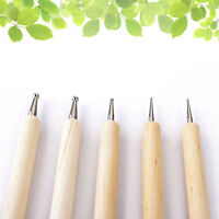 5Pcs/Set 2 Way Wooden Dotting Pen Nail Art Dot Tool Set Manicure Painting Kit*