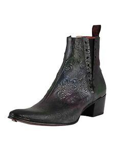 Jeffery West Men's Chelsea Leather Boots, Grey