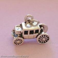 Stage Coach Carriage Stagecoach Charm Pendant STERLING SILVER