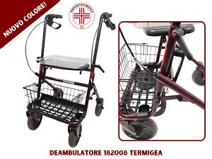 Deambulatore per anziani e disabili pieghevole 4 ruote ausilio medico con iva 4%