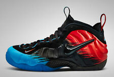 Nike Air Foamposite Spider man size 7. 616750-400. blue red black penny