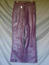 1980s Pleather Bell Bottom Hip Hugger Pants Mauve Womens
