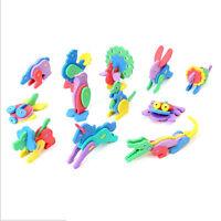 2pcs Kid 3D Animal Puzzle Mini EVA Foam Educational Toys DIY Model Random JCAU