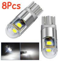 8x Osram T10 W5W 168 2SMD LED 6000K Car interior Reading Light 12V DC Lamp White