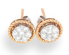 18Carat Rose Gold Diamond (0.57TCW) Halo Cluster Stud Earrings (9mm Diameter)