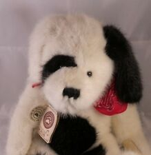 "Retired Boyds Bears Plush Beanie Jointed 18"" Black & White Dog Duffy P Hydrant"