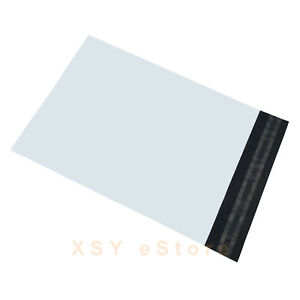 """15 White Poly Shipping Mailers Envelopes Mailing Bags 5"""" x 7""""_125 x 180+45mm"""