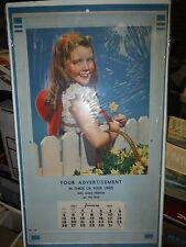VINTAGE 1947 Advertising Page for Calendar, Advertisement Template Daisies