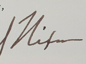 1972 USA President Richard Nixon Autograph Signed Document White House Letter US