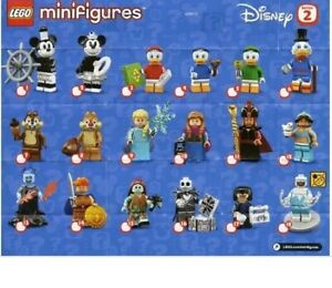 LEGO DISNEY Minifigures Series 2 71024 Complete Set of All 18 New & SEALED